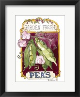 Framed Garden Fresh Peas-Seed Packet