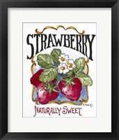 Framed Naturally Sweet Strawberry-Seed Packet