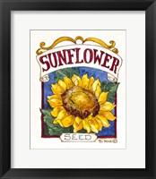 Framed Sunflower-Seed Packet
