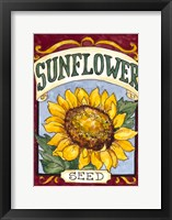 Framed Large Sunflower-Seed Packet