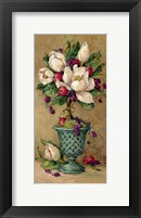 Framed Magnolia Cluster Topiary I