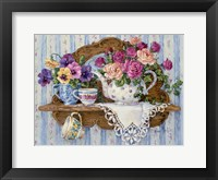 Framed Pansies and Lace