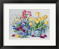 Framed Spring Garden in Blue II