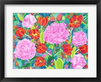 Framed Peories And Tulips