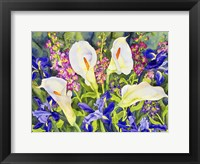 Framed Callas with Irises