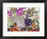 Framed Rabbit with Carrots