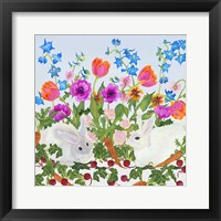 Framed Rabbits And Carrot