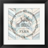 Framed Let Your Faith Chevron