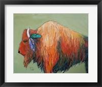 Framed Warrior Bison