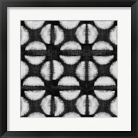Framed Shibori Black IV