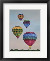 Framed Balloons at Dawn