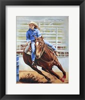 Framed Barrel Racing