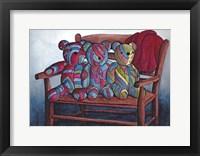 Framed Calico Bears