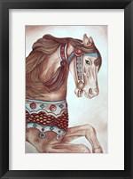 Framed Carousel Horse