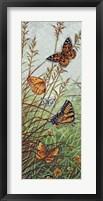 Framed Golden Butterflies