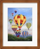 Framed Sunrise Balloons