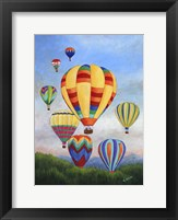 Framed Sunrise Balloons
