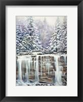 Framed Winter Falls