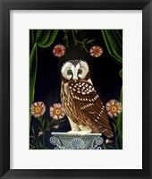 Framed Owl Guardian Print