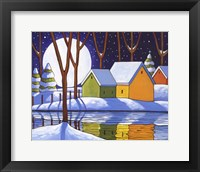Framed Reflection Winter Night