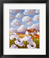 Framed Flowers & Clouds