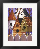 Framed Moon Crows Houses