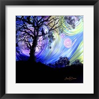 Framed Aurora Borealis Dreaming