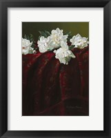 Framed Peonies on Crimson