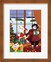 Framed Christmas Cats Theme Christmas Decorations V2