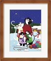 Framed Christmas Cats Theme Christmas Star V2