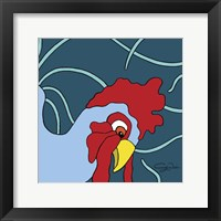 Framed Curious Chicken