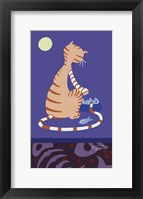 Framed Orange And White Striped Tomcat