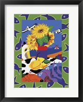 Framed Sunflowers And Lemons