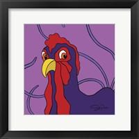 Framed Surprised Chicken