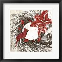 Framed Cardinal Christmas I