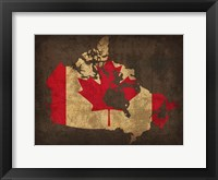 Framed Canada Country Flag Map