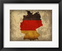 Framed Germany Country Flag Map