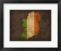Framed Ireland Country Flag Map