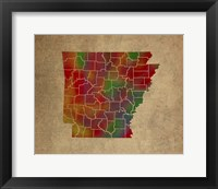 Framed AR Colorful Counties