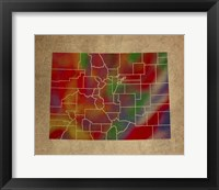 Framed CO Colorful Counties