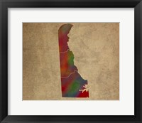 Framed DE Colorful Counties