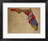 Framed FL Colorful Counties
