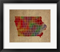 Framed IA Colorful Counties
