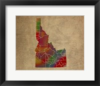 Framed ID Colorful Counties