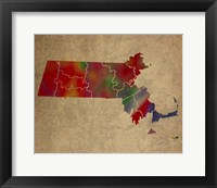 Framed MA Colorful Counties