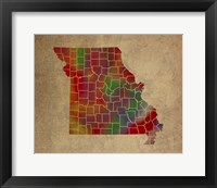 Framed MO Colorful Counties
