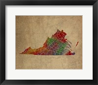 Framed VA Colorful Counties