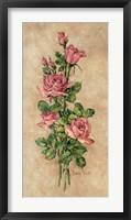Framed Wood Rose I