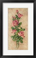 Framed Wood Rose I