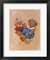 Framed Americana Girl Teddy
